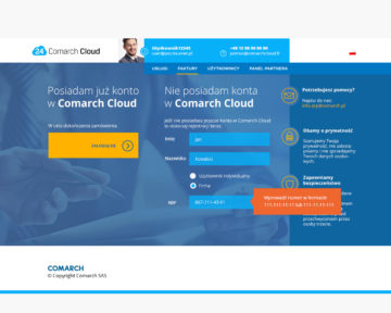 comarch cloud UX