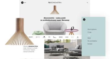 Projekt graficzny strony www - Aksonometria