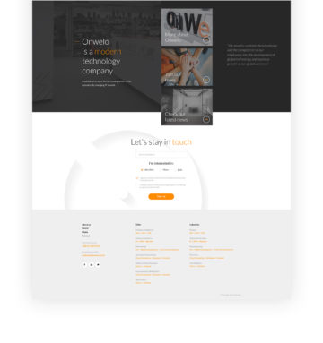 Onwelo web development