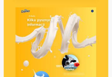 Projekt funkcjonalny strony Danone