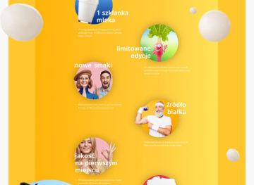 Danone projekt graficzny strony www