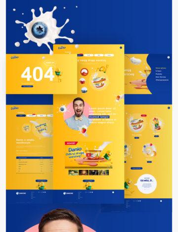 Danio projekt graficzny strony wykonany przez ROXX Media