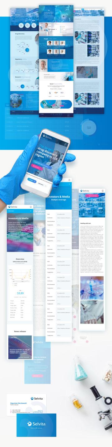 Selvita projekt funkcjonalny strony www