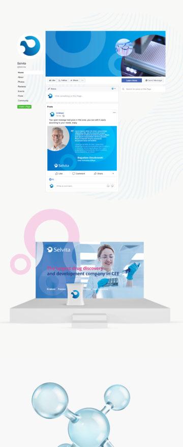 Selvita projekt graficzny serwisu www